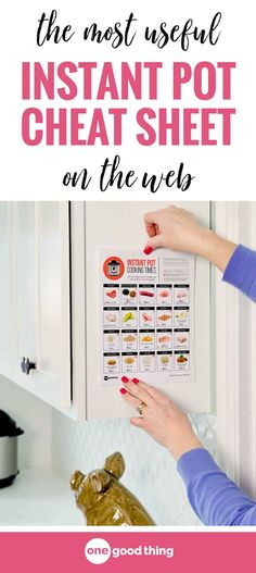 I've made a few useful updates to my printable Instant Pot Cheat Sheet, and you can download the new version for free! You'll get cooking times, pressure release info, and helpful tips for all the foods you love to cook in your Instant Pot. #instantpot #instantpottips #cookingtips #OGT #freeprintable