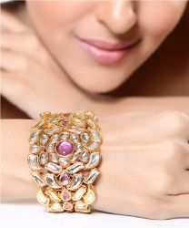Traditionally designed Kundan bracelet