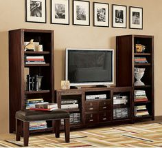 for the love of pottery barn, that entertainment center is beautiful