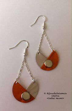 Handmade: three quarter Nespresso earrings by Urban Jewelry, Funky Jewelry, Recycled Jewelry, Plastic Jewelry, Wooden Jewelry, Clay Jewelry, Leather Earrings, Leather Jewelry, Dosette Nespresso