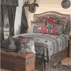 Western bedroom furniture will be the best bedroom furniture nowadays. It means that this bedroom furniture will have different Western Rooms, Western Bedding, Western Decor, Western Cowboy, Western Chic, Rustic Bedroom Furniture, Western Furniture, Simple Furniture, Furniture Ideas