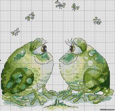 frog cross stitch