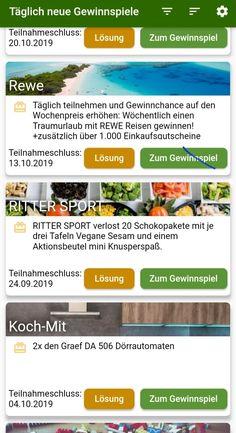 Gewinnspiele App