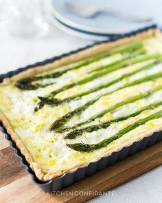 Buttermilk Asparagus Quiche | http://kitchenconfidante.com/buttermilk-asparagus-quiche-recipe