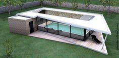 couverture de piscine en bois - Recherche Google