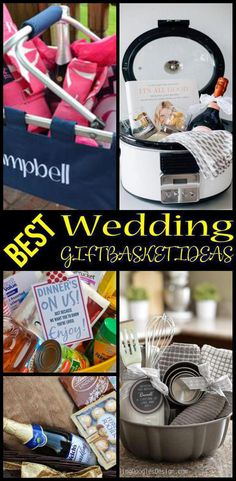 Looking for the best gift baskets ideas for a Wedding. Looking for the best gift baskets ideas for a Wedding. Great ideas for Bridal Shower Baskets, Creative Wedding Gifts, Wedding Gift Baskets, Bridal Shower Gifts For Bride, Wedding Shower Favors, Basket Gift, Fun Wedding Gifts, Diy Wedding, Wedding Dress