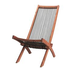 BROMMÖ Deck chair IKEA Foldable. Saves space when stored or not in use.