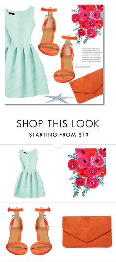 """""""Coral mint"""" by starlight667 ❤ liked on Polyvore featuring Aquazzura and Dorothy Perkins"""