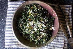 kale and quinoa salad with ricotta salata