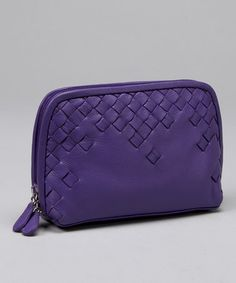 Sugarplum Woven Cosmetic Bag by ILI Leather Goods  on zulily
