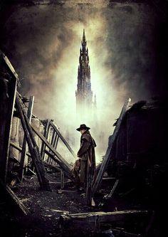 The Dark Tower, Stephen King, Gunslinger Dark Tower Art, The Dark Tower Series, Dark Tower Tattoo, La Tour Sombre, Roland Deschain, Stephen King Books, 70s Sci Fi Art, Magnum Opus, Cultura Pop