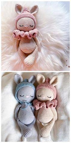 Crochet Amigurumi Free Patterns, Crochet Animal Patterns, Crochet Bear, Cute Crochet, Doll Patterns Free, Easter Bunny Crochet Pattern, Crochet Doll Pattern, Crochet Rabbit Free Pattern, Crochet Abbreviations