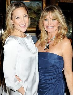 Celebrity Moms and Daughters: Like mother like daughter! Both #GoldieHawn and #KateHudson are known for their blonde locks and sunny dispositions. #mothersday http://news.instyle.com/photo-gallery/?postgallery=111564