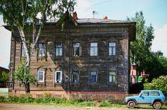 Tomsk wooden houses from inside