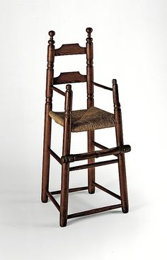 1700 American High chair at the Metropolitan Museum of Art, New York Antique High Chairs, Small Accent Chairs, Art Watch, Painted Chairs, Bedroom Chair, Egg Chair, Vintage Love, Rocking Chair, Antique Furniture