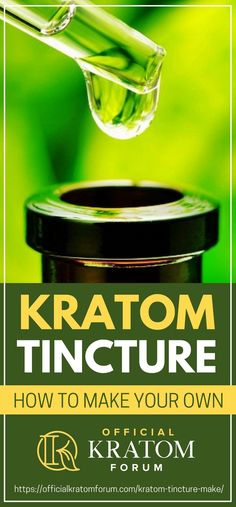 Kratom tincture is a popular form of kratom because of its potency. Here's a step by step guide to making your very own kratom tincture! Natural Headache Remedies, Natural Pain Relief, Natural Cures, Natural Healing, Holistic Remedies, Homeopathic Remedies, Health Remedies, Home Remedies, Herbs