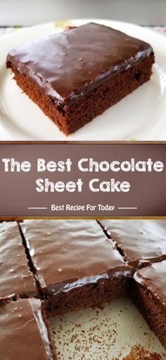 The Best Chocolate Sheet Cake - Decorautro Best Dessert Recipes, Fun Desserts, Delicious Desserts, Sheet Cake Pan, Sheet Cake Recipes, Pie Cake, No Bake Cake, Cupcakes, Cupcake Cakes