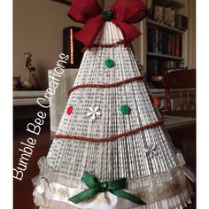 Bookfold Christmas tree