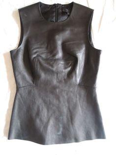Alexander Wang pleated leather top  www.fullcirclefashion.com