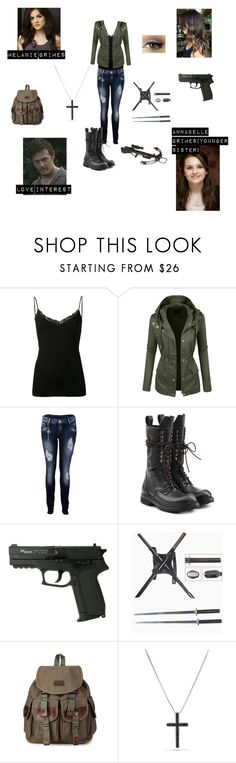 """""""Melanie 'Mel' Grimes(The Walking Dead)"""" by babybluebird00 ❤ liked on Polyvore featuring Only Hearts, LE3NO, CO, Rick Owens and David Yurman"""