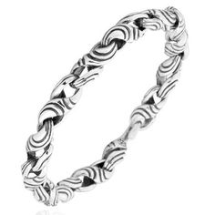 Handcrafted #Mens #Luxury 925 Tribal Pattern #Silver #Bracelet