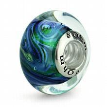 Aurora Borealis OHM Reflections Glass Bead Charm AMV00104 :: Ohm Retired Beads :: Ohm Beads :: Shop by Bead Brand :: Generous Gems