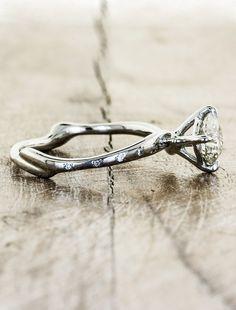 Organic design engagement ring - Aurora Diamonds