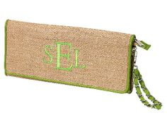 Monogrammed Clutch 11.5 x 5.5  Inside Zipper Pocket Woven Straw Material Magnetic Snap Closure and Zipper Closure Detachable Wristlet Lined Inside  Island Girl Favorite!  Whether its a night on the town or kicking it during the day, you will be the envy of everyone with this beautiful purse. Elegant and s...