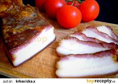 Domácí anglická slanina recept - TopRecepty.cz Smoking Meat, Food 52, Charcuterie, Dairy, Food And Drink, Cheese, Homemade, Baking, Breakfast