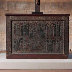 Altar Frontal de origen español | Cataluña | madera, 1225, románico,  en  El Metropolitano de Nueva York.