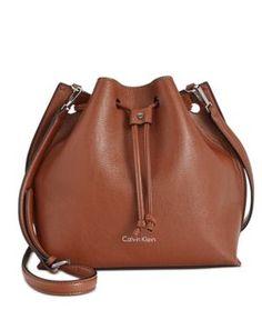 Calvin Klein Drawstring Bucket Bag - Brown