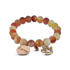Coco 88 Peach Bead Bracelet Finding Yourself, Peach, Beaded Bracelets, Collection, Fashion, Moda, Fashion Styles, Pearl Bracelets, Peaches