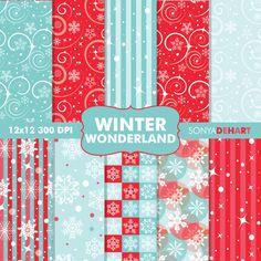 Quality DigiScrap Freebies: Winter Wonderland paper pack freebie from Sonya DeHart Design