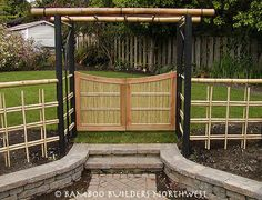 bamboo fencing ideas. Wonderful simple Japanese garden entry.