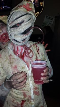bobble head silent hill nurse costume entirely homemade scary costumescool halloween