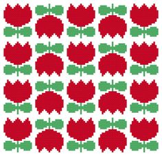 Cross Stitch Pattern, Scandi Flower PDF. Inspired by the floral designs found on vintage Scandinavian fabric and wallpaper of the 1960s and 70s,