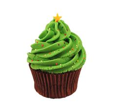 Chritmas Tree Cupcake. Deck the Halls with this delicious cupcake!