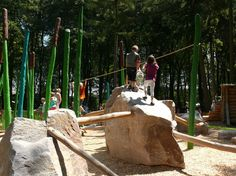 boulders with poles