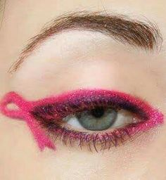 Breast Cancer Eye Make up
