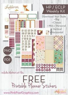 FREE Prepped for Autumn - Free Printable Planner Stickers