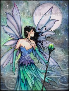 Cry of the Wind Fairy Fine Art Giclee Print by MollyHarrisonArt