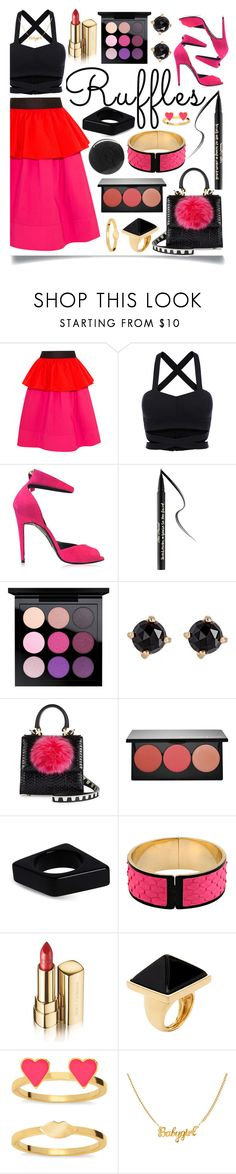 """All Ruffled Up"" by ittie-kittie on Polyvore featuring Isa Arfen, Pierre Hardy, Too Faced Cosmetics, MAC Cosmetics, Irene Neuwirth, Les Petits Joueurs, Smashbox, Marni, Emilio Pucci and Dolce&Gabbana"