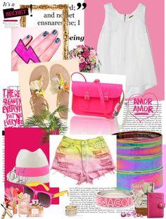Pink Pandemonium, created by christina-chrysandrea on Polyvore