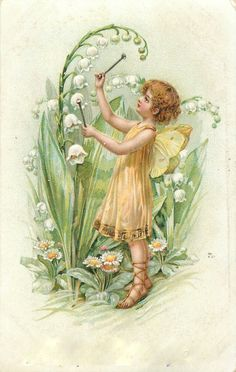 Vintage Lily of the Valley print via bumble button