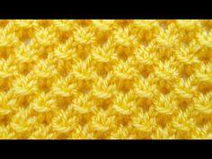 Вязание спицами узоров с вытянутыми петлями Плетенка с вытянутыми петлями - YouTube