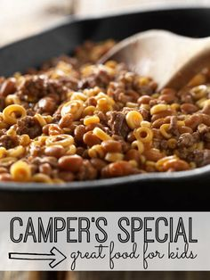 Camper's Special is a quick and easy one-skillet meal that will be a hit with the kids! Great family recipe!