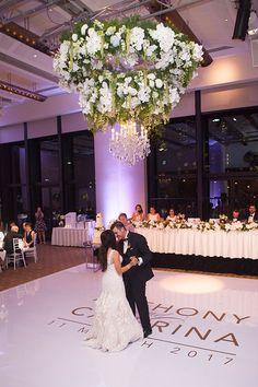 Anthony & Caterina's beautiful wedding in Crown's River Room.  #weddingvenue #melbournewedding #realweddings
