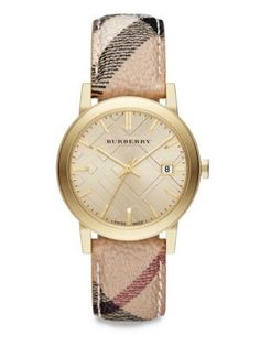 Burberry - Round Stainless Steel Watch - Saks.com