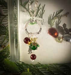 Christmas Wish Charm Cluster 091803SNC by LaraBellaJewelry on Etsy