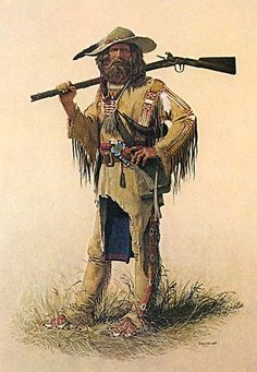 Mountain Man-clothing wise this is a good look for Donner. Westerns, Native American Art, American History, American Women, American Indians, Rocky Mountains, Le Castor, Mountain Man Rendezvous, Fur Trade
